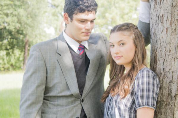 Alex Kerry (Melchior) and Lauren Weinberger (Wendla) Photo