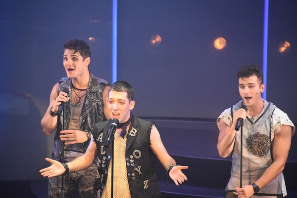 Austin Colby (Matthew), Coby Getzug (Abraham), and Anthony Fortino (Luke)