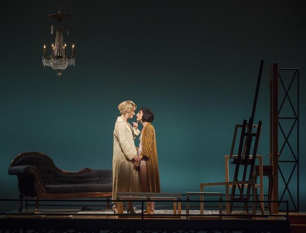 Eden Espinosa (Tamara de Lempicka) and Carmen Cusack (Rafaela)