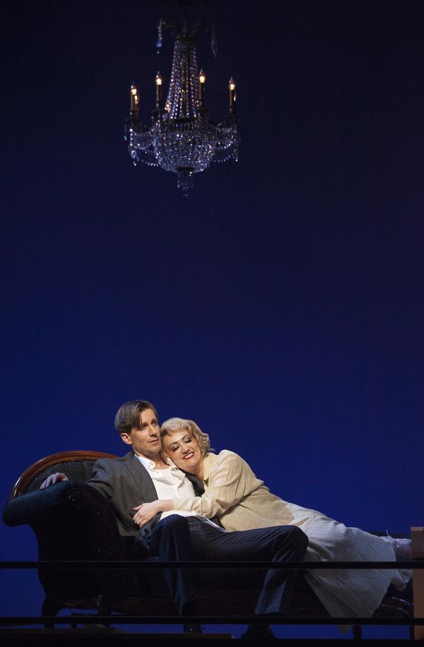 Andrew Samonsky (Tadeusz Lempicki) and Eden Espinosa (Tamara de Lempicka)