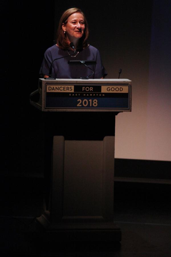 The Actors Fund COO Barbara Davis presented the Dance Humanitarian Award to Bebe Neuw Photo