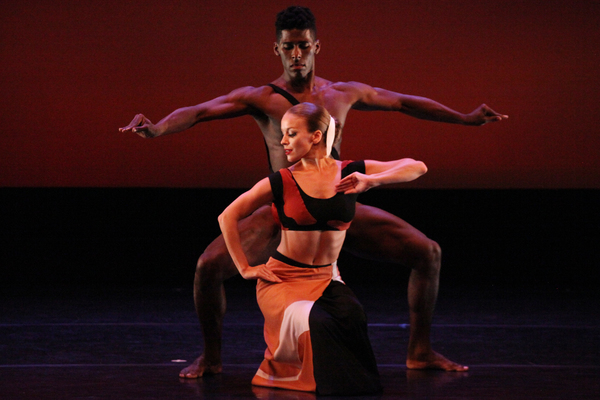 Martha Graham Dance Company Members Lloyd Knight and Anne O'Donnell with an excerpt f Photo