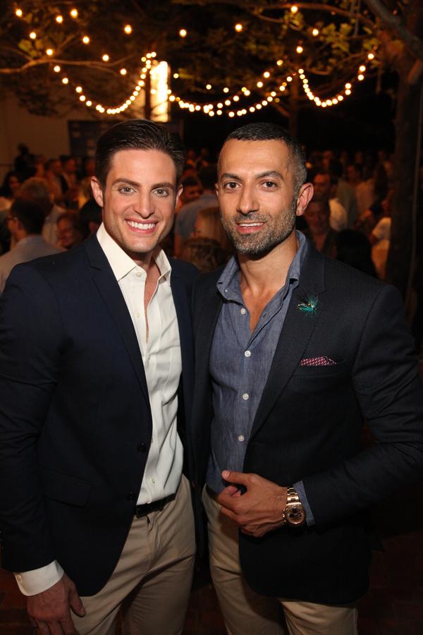 Co-producer Michael Apuzzo with Ali Ebrahimi