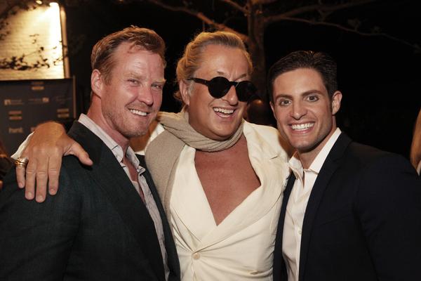 Co-producers Eric Gunhus and Michael Apuzzo pose with interior designer Bernt Heiberg