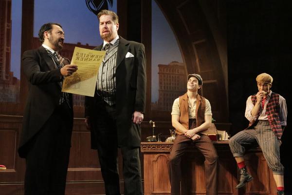 Jeff Aguiar as Seitz, Merwin Foard as Pulitzer, Jason Gotay as Jack, and Michael John Hughes as Spot Conlon