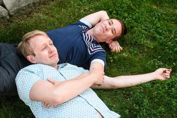 Micah Kronlokken (left), Jude Hansen (right). Photo by Paul Goyette.