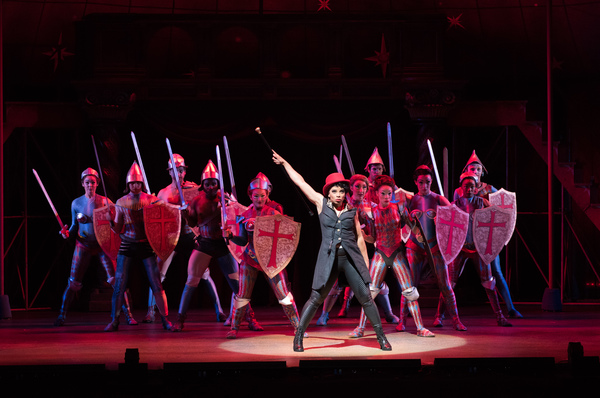 The Leading Player (Debra M. Walton) and company in MTWichita's production of Pippin, directed and choreographed by Al Blackstone.