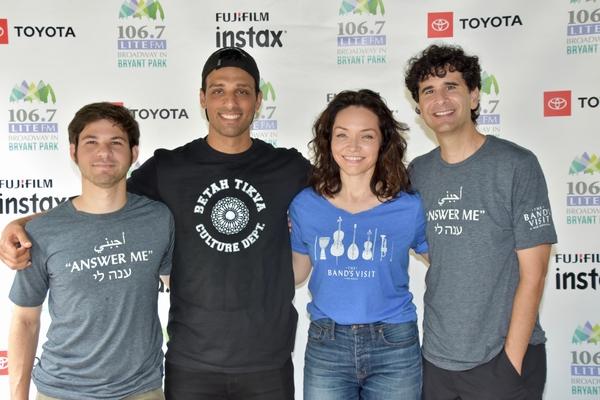 The Band's Visit-Etai Benson, Ari'el Stachel, Katrina Lenk and John Cariani