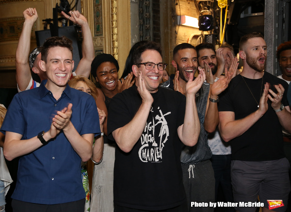Michael Mayer with cast