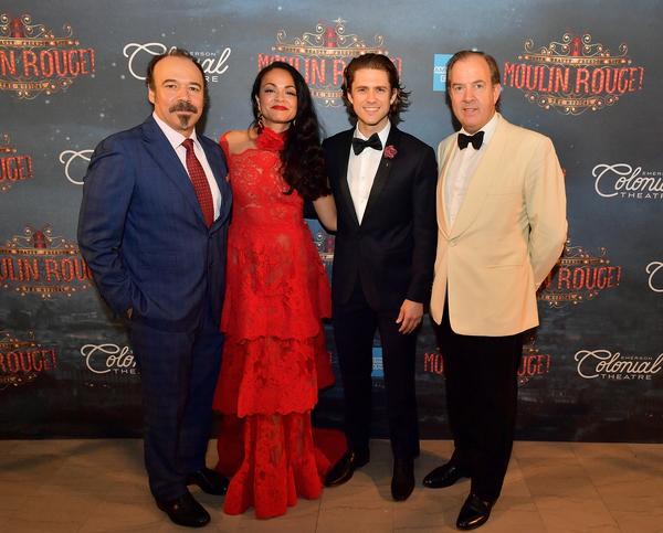 Danny Burstein, Karen Olivo, Aaron Tveit, and Mark Cornell  Photo