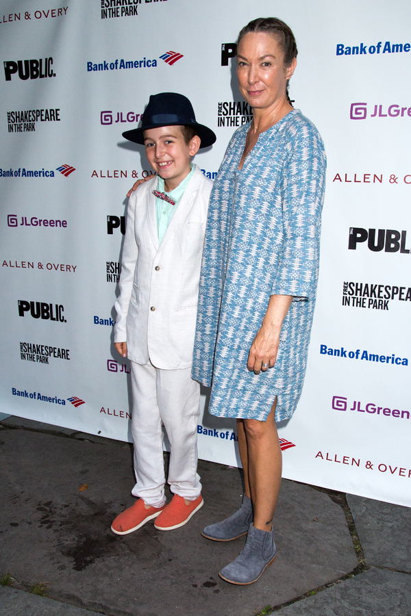 Elizabeth Marvel and son