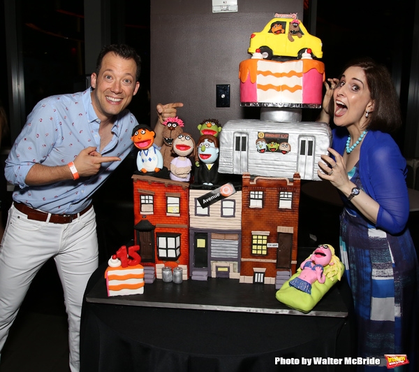 Photo Coverage: AVENUE Q Celebrates 15th Anniversary With Cake Before The Show