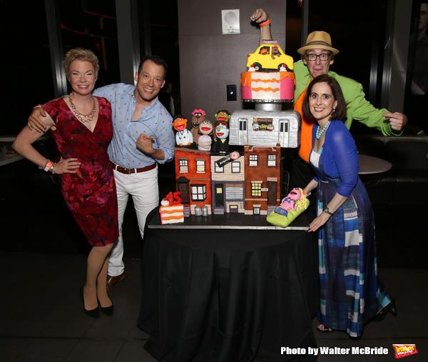 Jennifer Barnhart, John Tartaglia, Rick Lyon and Stephanie D'abruzzo
