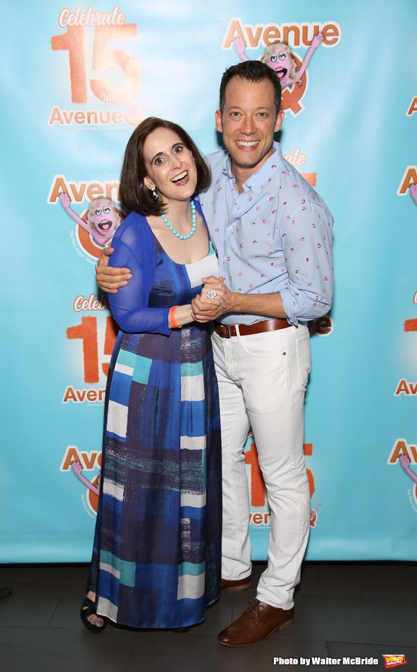 Stephanie D'abruzzo and John Tartaglia