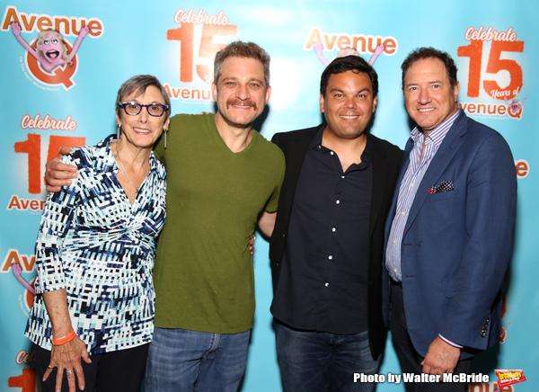 Robyn Goodman, Jeff Marx, Robert Lopez and Kevin McCollum