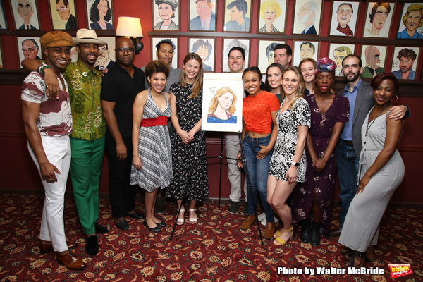 Melissa Benoist with the cast of 'Beautiful - The Carole King Musical'