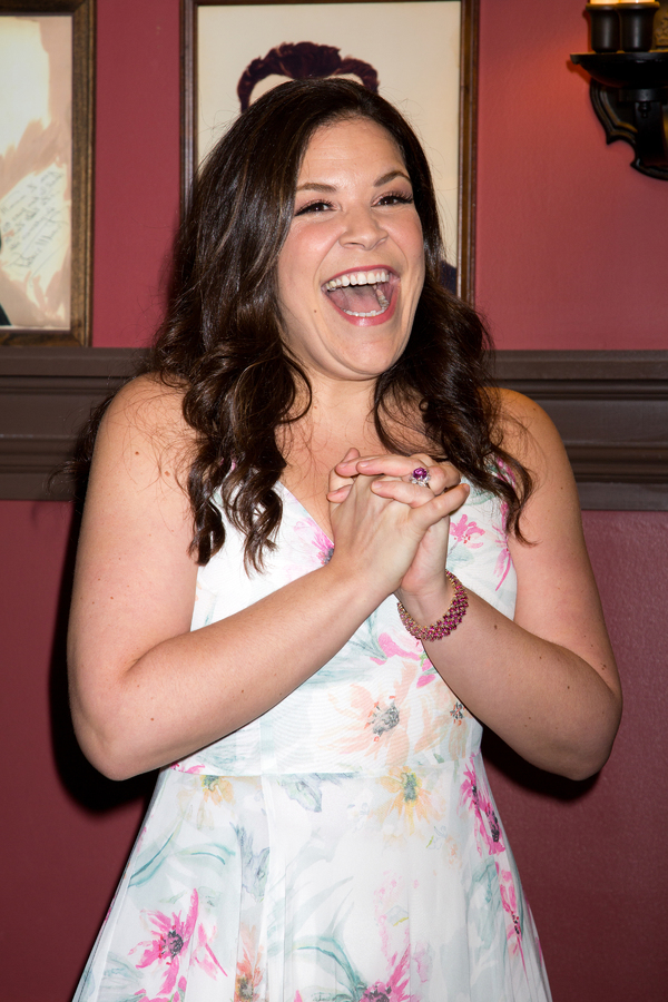 Photo Coverage: An Upstandin' Lady Is She! CAROUSEL's Lindsay Mendez Celebrates New Sardi's Portrait