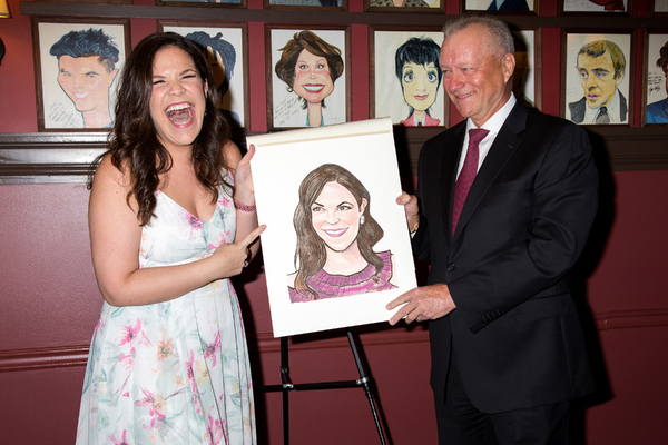 Photo Coverage: An Upstandin' Lady Is She! CAROUSEL's Lindsay Mendez Celebrates New Sardi's Portrait
