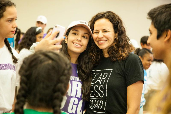 Mandy Gonzalez and Campers
