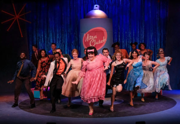 Bethany Slomka (Tracy) and the Company of Hairspray Photo
