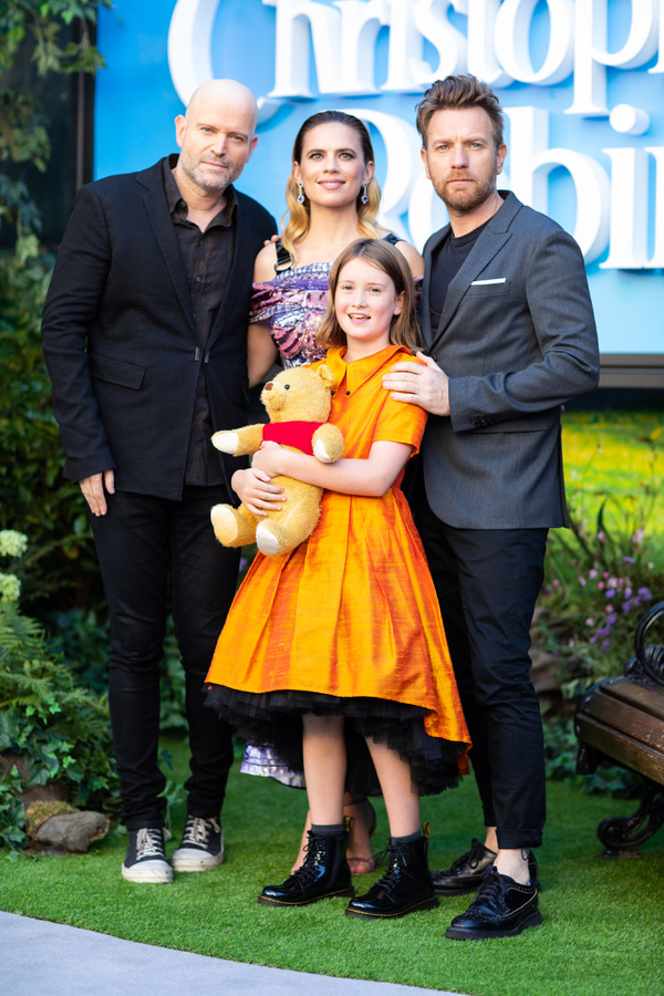 Marc Forster, Hayley Atwell, Bronte Carmichael and Ian McGregor attend the European premiere of Disney's 'Christopher Robin' at the BFI Southbank in London, UK on August 5th, 2018.