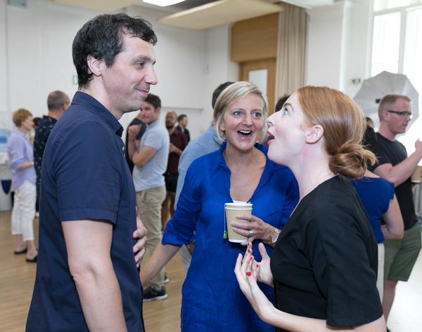 Alex Gaumond, Marianne Elliott, and Rosalie Craig
