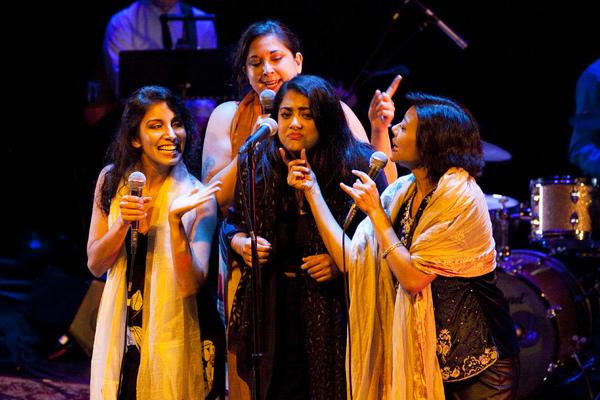 Kuhoo Verma with Meetu Chilana, Kamala Sankaram, and Angel Desai