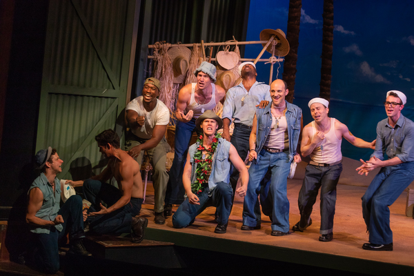 Michael Thomas Holmes, Tim Rogan and the cast of South Pacific