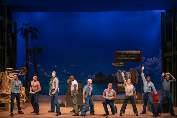 Michael Thomas Holmes  and the cast of South Pacific