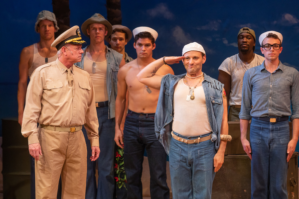 Curt Denham, Michael Thomas Holmes and the cast of South Pacific