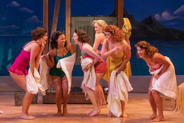 Becky Gulsvig and the cast of South Pacific