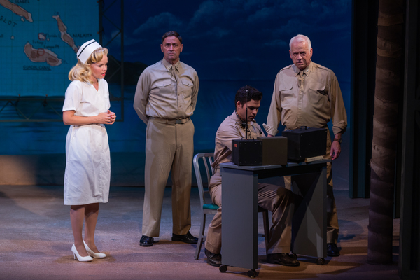 Becky Gulsvig, Curt Denham and the cast of South Pacific