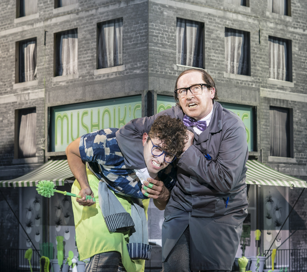 Marc Antolin and Forbes Masson as Seymour and Mr Mushnik Photo