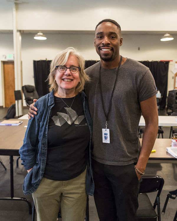 Director Lisa Peterson and cast member Grantham Coleman Photo