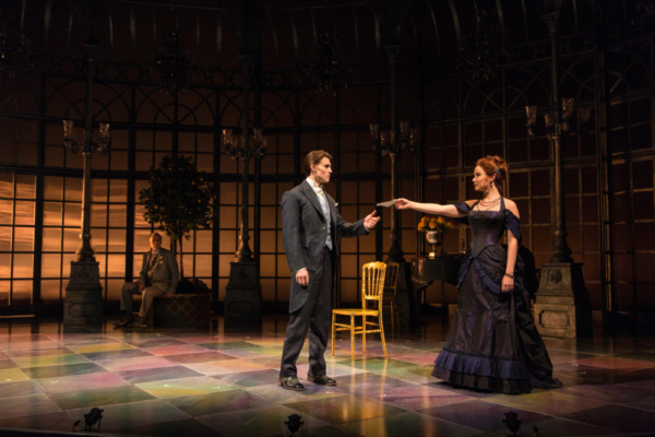 Boyd Gaines, Andrew Veenstra, and Sierra Boggess