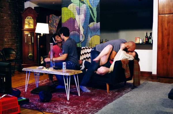 Vanessa Lynah, Juan Arturo, Matthew Bovee, and Blaire O'Leary in BUFFALO BUFFALO Photography by Katie Pedro