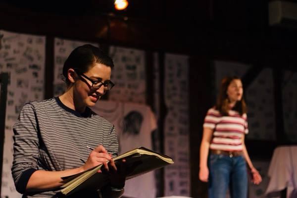 Caitlin Teeley as Alison Bechdel and Mary Shalaby as Small Alison. Photo by Cody Lee Miller