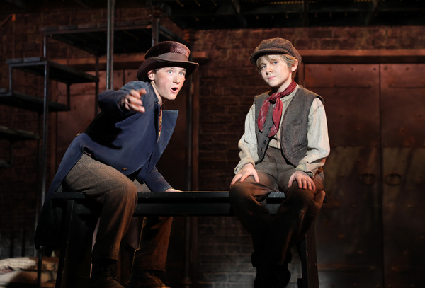"�""Consider Yourself, one of the family"" Gavin Swartz (The Artful Dodger) and Elijah Rayman (Oliver Twist) in Goodspeed Musicals' Oliver!"