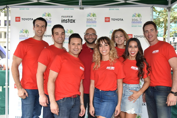 From Jersey Boys-Matt Edwards, Sam Wolf, Aaron DeJesus, Victor Sosa from 106.7 Lite FM, Dianna Barger, Natalie Gailo, Tristen Buettel and Austin Owens