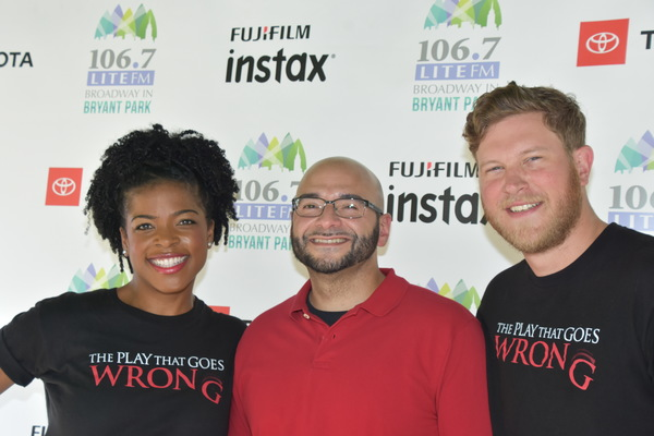 106.7 Lite FM's Victor Sosa with Ashley Bryant and Preston Truman Boyd
