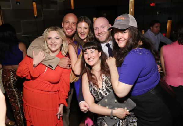 L-R Lily Kamp, KeiLyn Durrel Jones, Joanna Christie, Chris McFarland, Jenna Lazar, and Dee Dee Katchen (Front) (Photo by Cindy Ord/Getty Images for Throughline Artists)