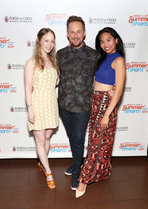 L-R Mariah Lee, Stephen Guarino and Francesca Fernandez McKenzie (Photo by Cindy Ord/Getty Images for Throughline Artists)