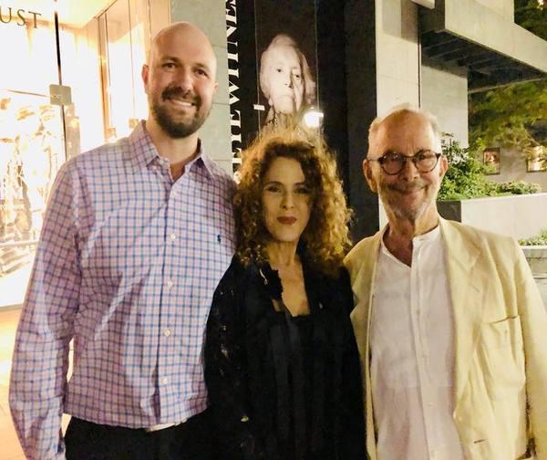 NYTF CEO Chris Massimine, Bernadette Peters, Joel Grey