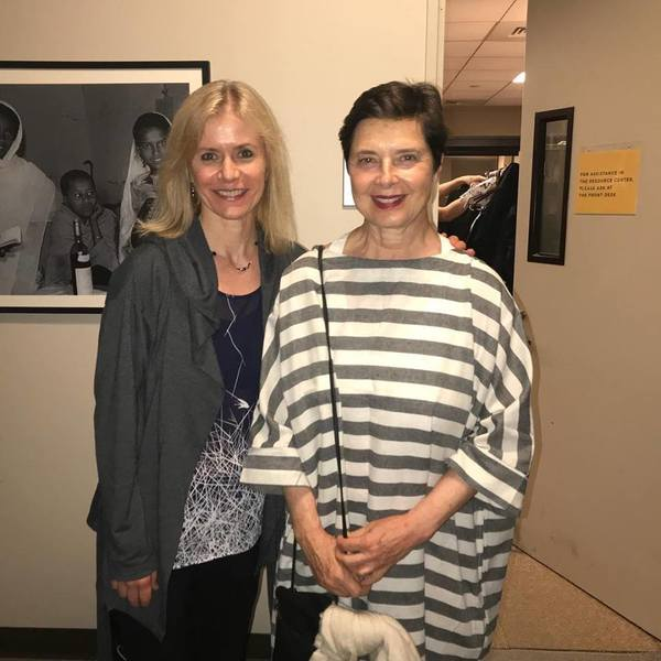 Merete Muenter and Isabella Rossellini