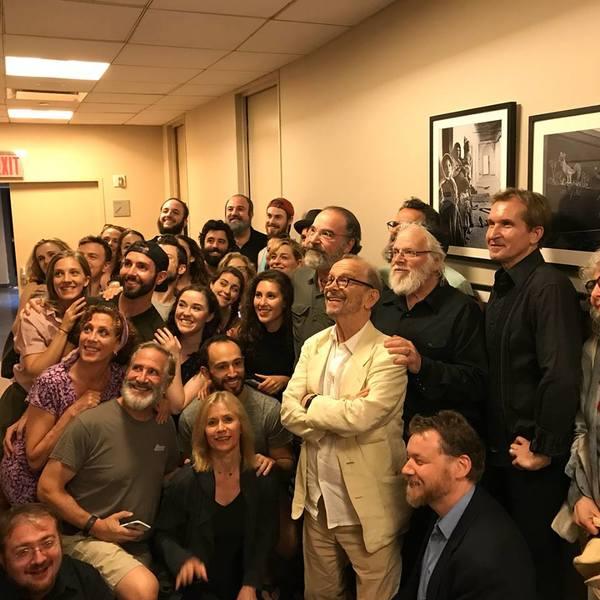 Mandy Patinkin, Joel Grey, NYTF Artistic Director Zalmen Mlotek and Fiddler cast