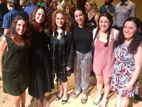 Raquel Nobile, Rachel Zatcoff, Bernadette Peters, Stephanie Lynne Mason, Samantha Hahn, and Rosie joe Neddy