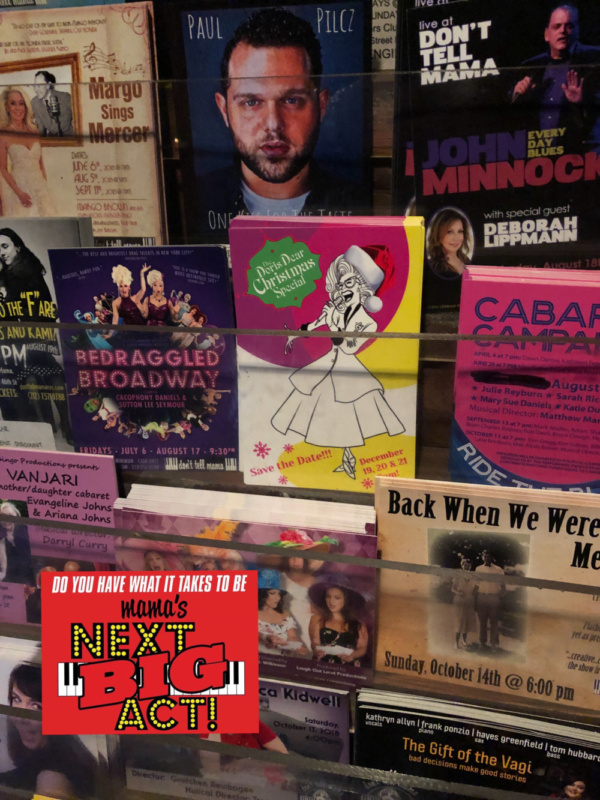 There is always something happening at Don't Tell Mama's!