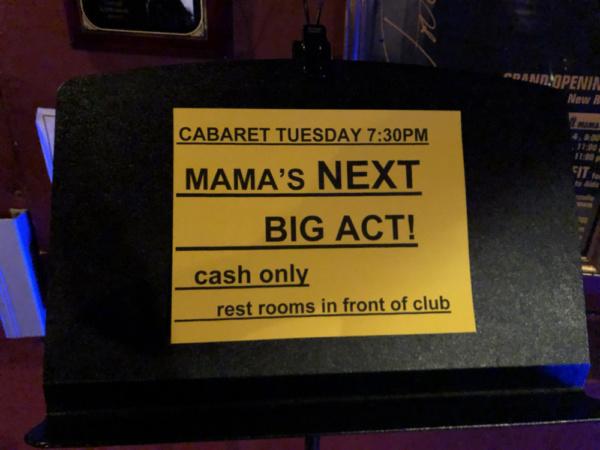 Photo Flash: Top 5 Picked At Don't Tell Mama's 'Mama's Next Big Act'!