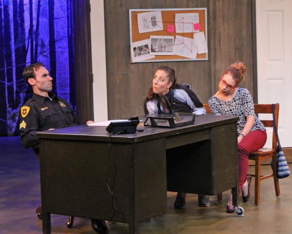 Nicholas Wilder as Kirk, Stefanie Londino as Jo, and Charlie Jhaye as Mary Photo