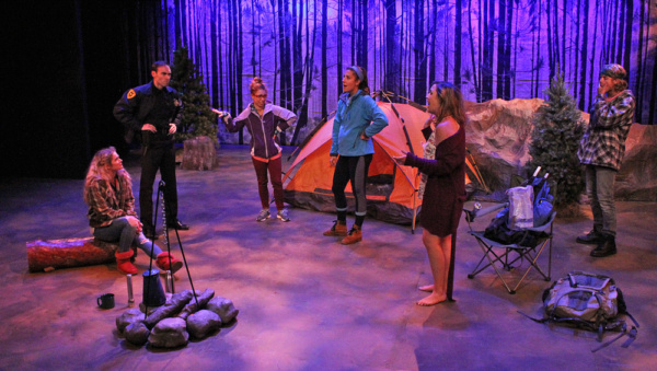 Amanda Walker as Amanda, Nicholas Wilder as Kirk, Charlie Jhaye as Mary, Stefanie Londino as Jo, Rebecca Mason-Wygal as Liz and Ethan Rich as Trenner